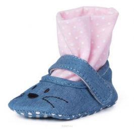 Пинетки для девочки PlayToday Newborn, цвет: голубой. 188837. Размер 17