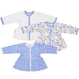 Кофточка детская Lucky Child, цвет: голубой, белый, 3 шт. 30-186-1. Размер 86/92