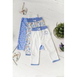 Штанишки Lucky Child, цвет: голубой, белый, 3 шт. 30-189. Размер 86/92