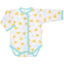 Боди детское Чудесные одежки, цвет: белый, салатовый. 5866. Размер 74