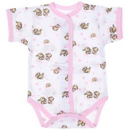 Боди детское Чудесные одежки, цвет: белый, розовый. 5869. Размер 86