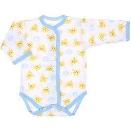 Боди детское Чудесные одежки, цвет: белый, голубой. 5866. Размер 86