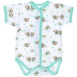 Боди детское Чудесные одежки, цвет: белый, салатовый. 5869. Размер 86