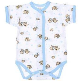Боди детское Чудесные одежки, цвет: белый, голубой. 5869. Размер 86 Одежда для новорожденных
