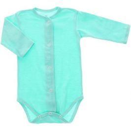 Боди детское Трон-Плюс, цвет: мятный. 5866. Размер 80, 12 месяцев