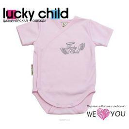 Боди-футболка детское Lucky Child Ангелы, цвет: розовый. 17-51. Размер 74/80