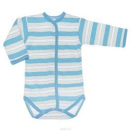 Боди детское Трон-плюс, цвет: голубой, белый. 5878_полоска. Размер 80, 12 месяцев