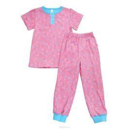 Пижама для девочки Bossa Nova, цвет: розовый, голубой. 388Б-181. Размер 86/92, 18-24 месяца