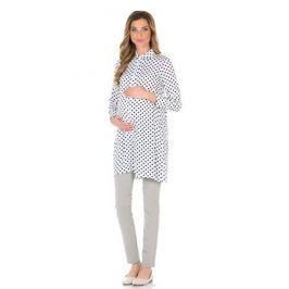 Блузка для беременнных и кормящих Nuova Vita, цвет: белый, черный. 1602.01. Размер 46