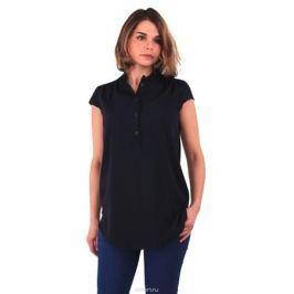 Блузка для беременных и кормящих One Plus One, цвет: темно-синий. V150035. Размер 52
