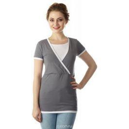 Блузка для беременных и кормящих Mum's Era Гармония, цвет: серый. 35592. Размер M (46/48)