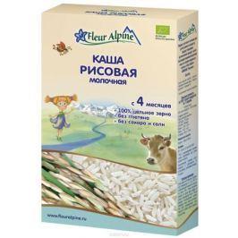Fleur Alpine Organic каша молочная рисовая, с 4 месяцев, 200 г