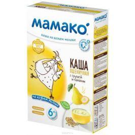 Мамако каша пшеничная с грушей и бананом на козьем молоке, 200 г Каши