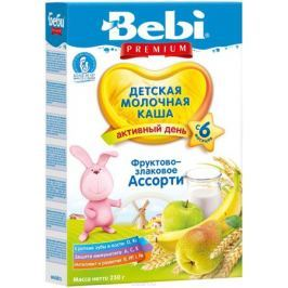 Bebi Премиум каша фруктово-злаковое ассорти молочная, с 6 месяцев, 250 г