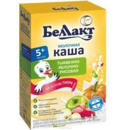 Беллакт каша молочная рисовая с тыквой и яблоком, 250 г
