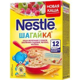 Nestle 5 злаков земляника малина яблоко каша молочная, 220 г