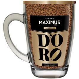 Maximus D'oro кофе растворимый в стеклянной кружке, 70 г