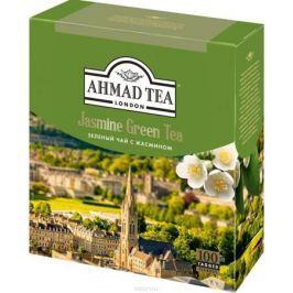 Ahmad Tea зеленый чай с жасмином в пакетиках, 100 шт