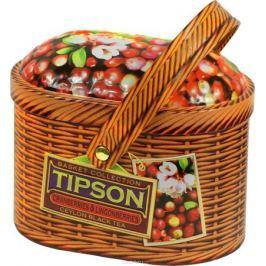 Tipson Cranberries and Lingonberries черный листовой чай, 100 г (жестяная банка)