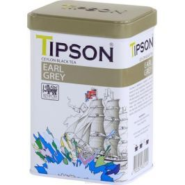 Tipson Эрл Грей чай листовой черный с ароматом бергамота, 85 г