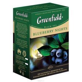 Greenfield Blueberry Nights черный листовой чай, 100 г