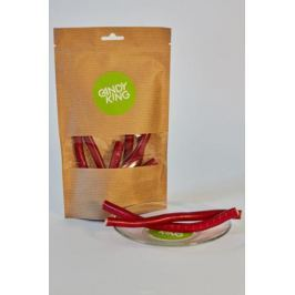 Candy King Клубничные кусочки кабеля конфета желейная со вкусом клубники, 100 г Мармелад