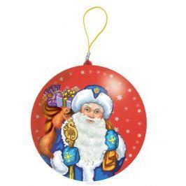 Сладкая Сказка Дед Мороз красный подарочный шар карамель + магнит, 18 г