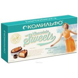 Комильфо шоколадные конфеты миндаль и крем-карамель, 116 г
