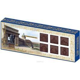 Дилан+ Шоколадный набор Санкт-Петербург барельеф, 12 шт по 8,3 г