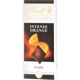Lindt Excellence темный шоколад с кусочками апельсина и миндаля, 100 г