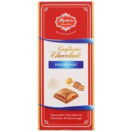 Reber Nougat молочный шоколад с ореховым и сливочным пралине, 100 г