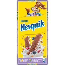 Nesquik молочный шоколад с молочной начинкой ягодами и злаками, 100 г