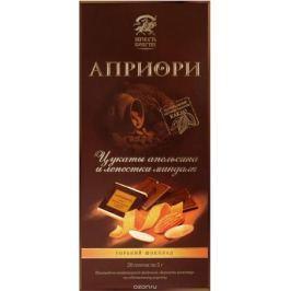 Априори горький шоколад цукаты апельсина и лепестки миндаля, 100 г