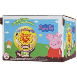 Chupa Chups Свинка Пеппа молочный шоколад, 18 штук по 20 г