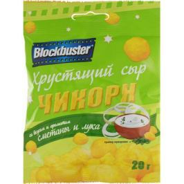 Blockbuster Чикорн хрустящий сыр классический со вкусом и ароматом сметаны и лука, 20 г