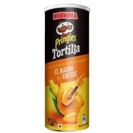 Pringles Tortilla Кукурузные чипсы со вкусом сыра начо, 160 г