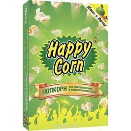 Happy Corn Попкорн для приготовления в СВЧ со вкусом яблока и корицы, 100 г