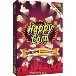 Happy Corn Попкорн для приготовления в СВЧ со вкусом черной смородины, 100 г