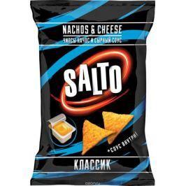 Salto чипсы кукурузные nachos классические 100 г + сырный соус