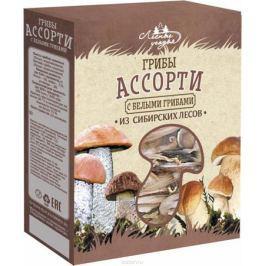 Лесные Угодья грибы сушеные ассорти с белыми грибами, 45 г