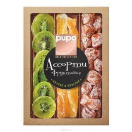 Pupo Gold Collection фруктовое ассорти кумкват, дыня и киви, 230 г