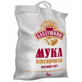 Аладушкин Мука пшеничная высший сорт, 5 кг