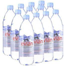 Evian вода минеральная природная столовая негазированная, 12 штук по 1 л