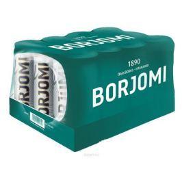 Borjomi вода природная гидрокарбонатно-натриевая минеральная, 12 шт по 0,33 л в банке