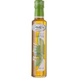 Costa d'Oro Extra Vergine масло оливковое нерафинированное со вкусом и ароматом базилика, 250 мл