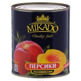 Mikado персики половинками в сиропе, 850 мл