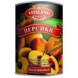 Vitaland персики половинками, 850 мл