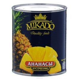 Mikado ананасы кусочками в сиропе, 850 мл