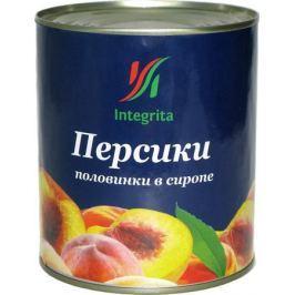 Integrita персики в сиропе половинками, 820 г
