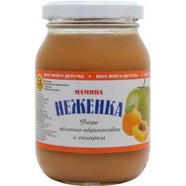 Капитан припасов мамина неженка пюре яблочно-абрикосовое с сахаром, 260 г